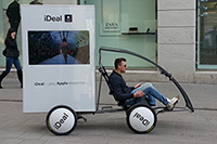 Advertising bike with led TV
