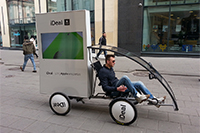 Digital advertising bike