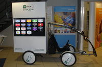 Advertising bike with TV