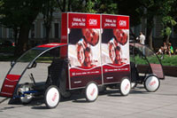 scooter advertising trailer