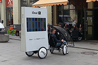 Promobike with LCD screen