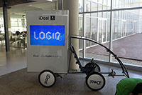 Digital Promobike with plasma TV, Advertising bike